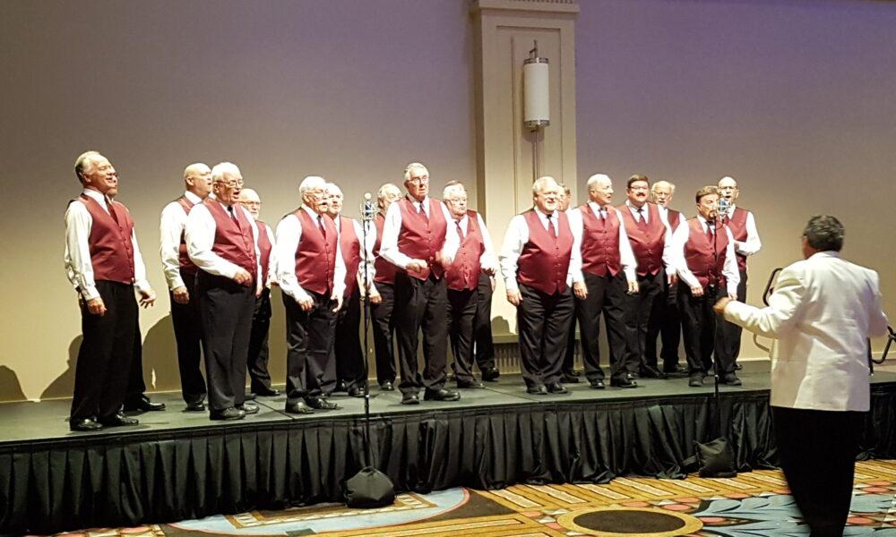 The Sun Parlour Chorus entertaining at the Banquet
